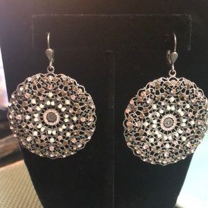Catherine Popesco Filigree Medallion Earrings